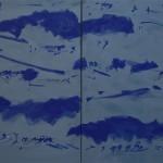 Grau Baby Blau 100x162