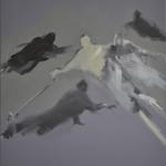 NACHTFLÜGE 2011 46.5x38.5 acrylic on canvas