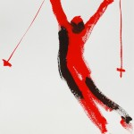 RED STAR 2013 75x55 gouache ink on paper