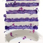 TRENCHES 2014 75X55 acqua gouache ink on paper