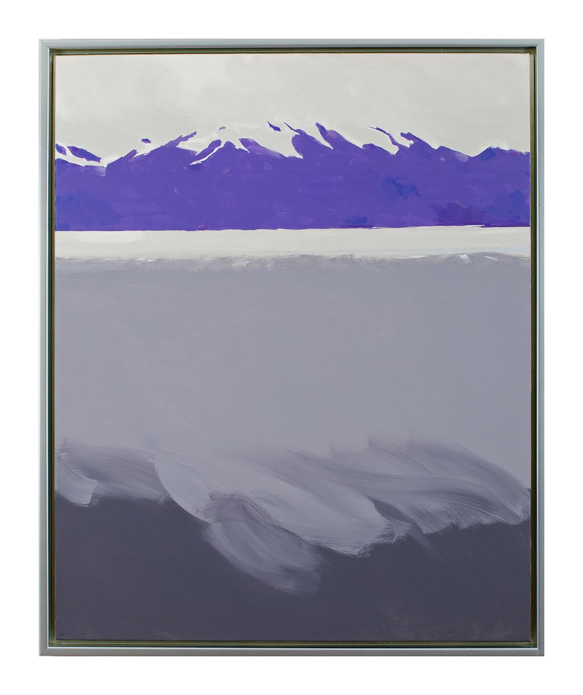 SOFT LANDING 2017 (f) 100x81 acrylic on canvas